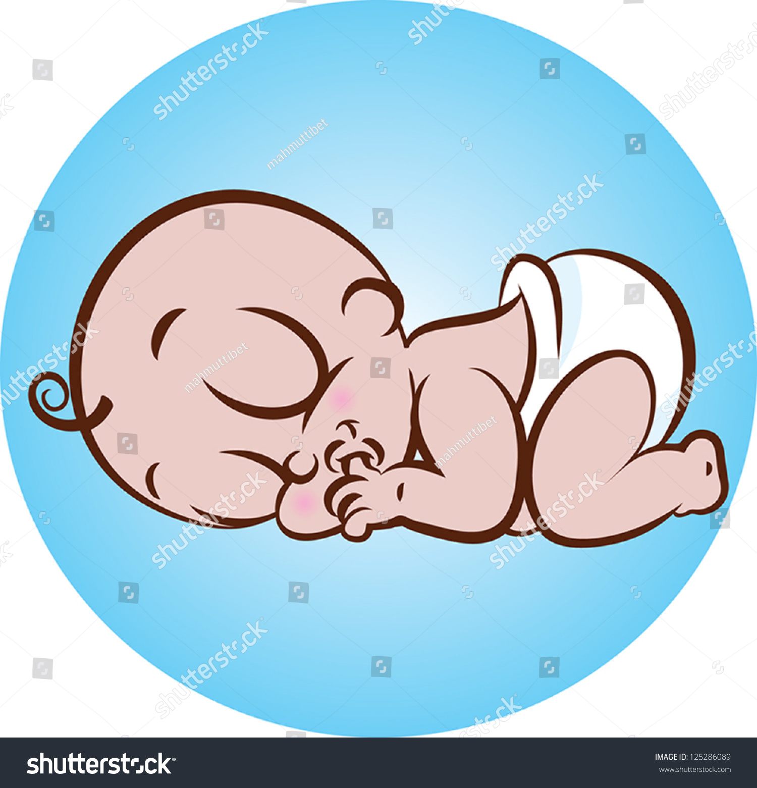 royalty-free vector illustration of a cute sleeping… #125286089