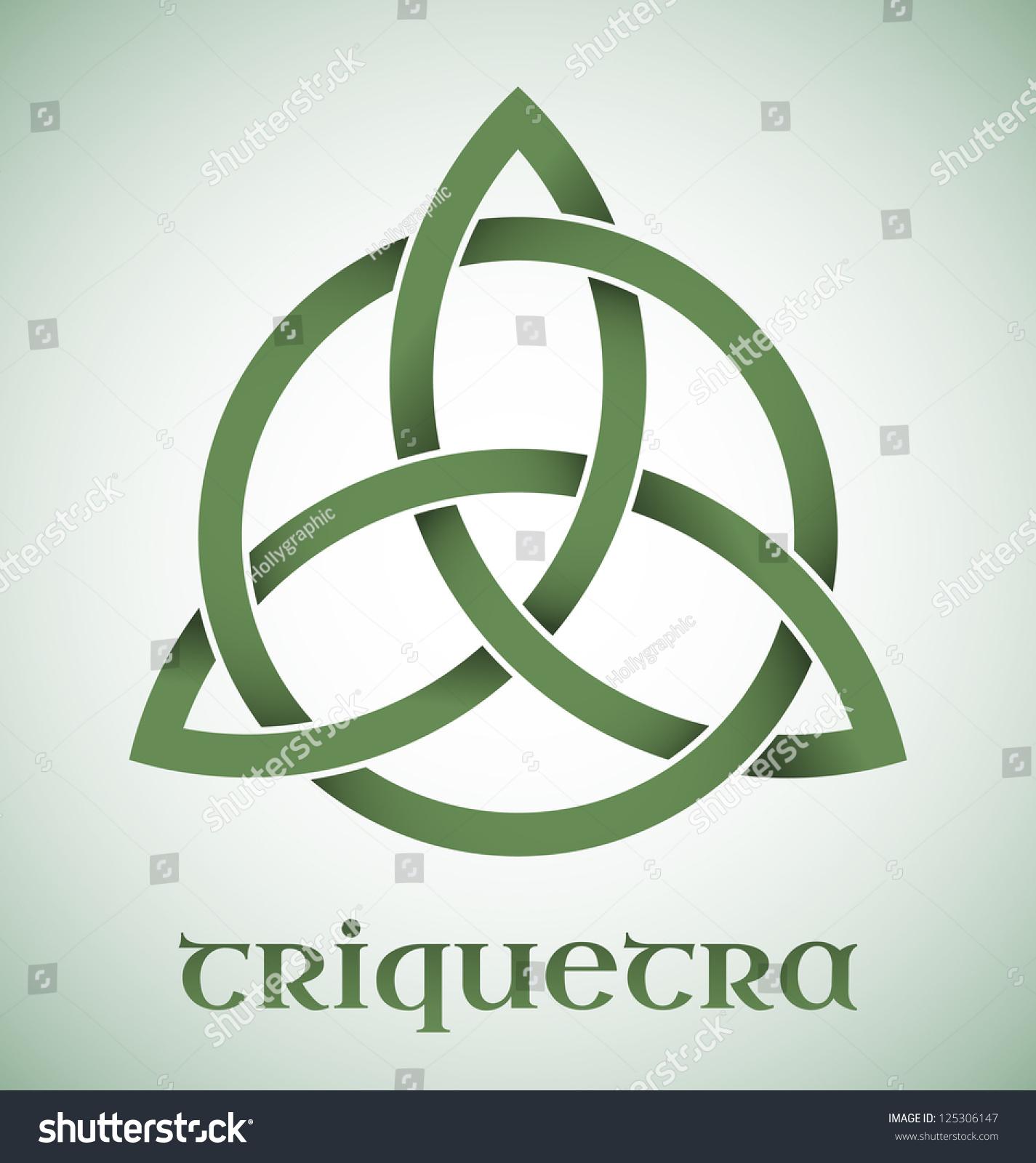 Green Triquetra Symbol Gradients Stock Vector Royalty Free