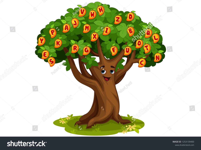 Mango Tree Alphabets Cartoon Vector Illustration Stock Vector Royalty Free 1253139400 Mechanic toy cartoon mango tree. https www shutterstock com image vector mango tree alphabets cartoon vector illustration 1253139400