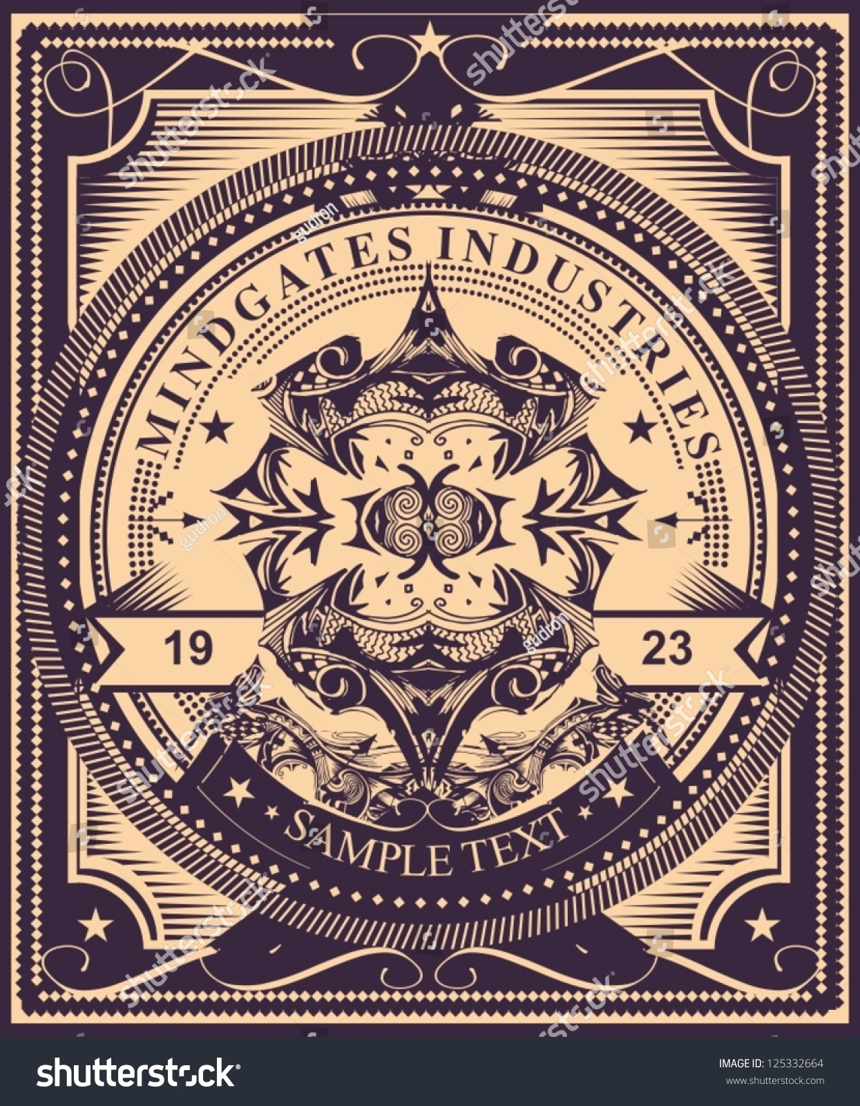 Poster design your own - Luxurious And Detailed Vintage Label Style Poster Design Highly Detailed Original Vector Artwork Just