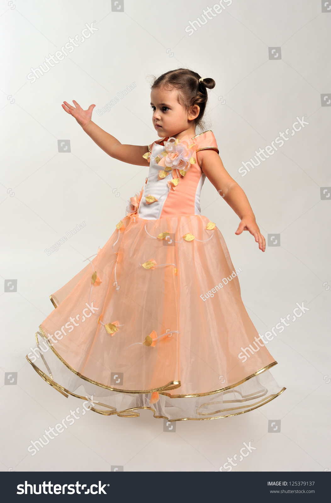 Little Dancer Small Girl Nice Peachcolored Stock Photo (Edit Now ...