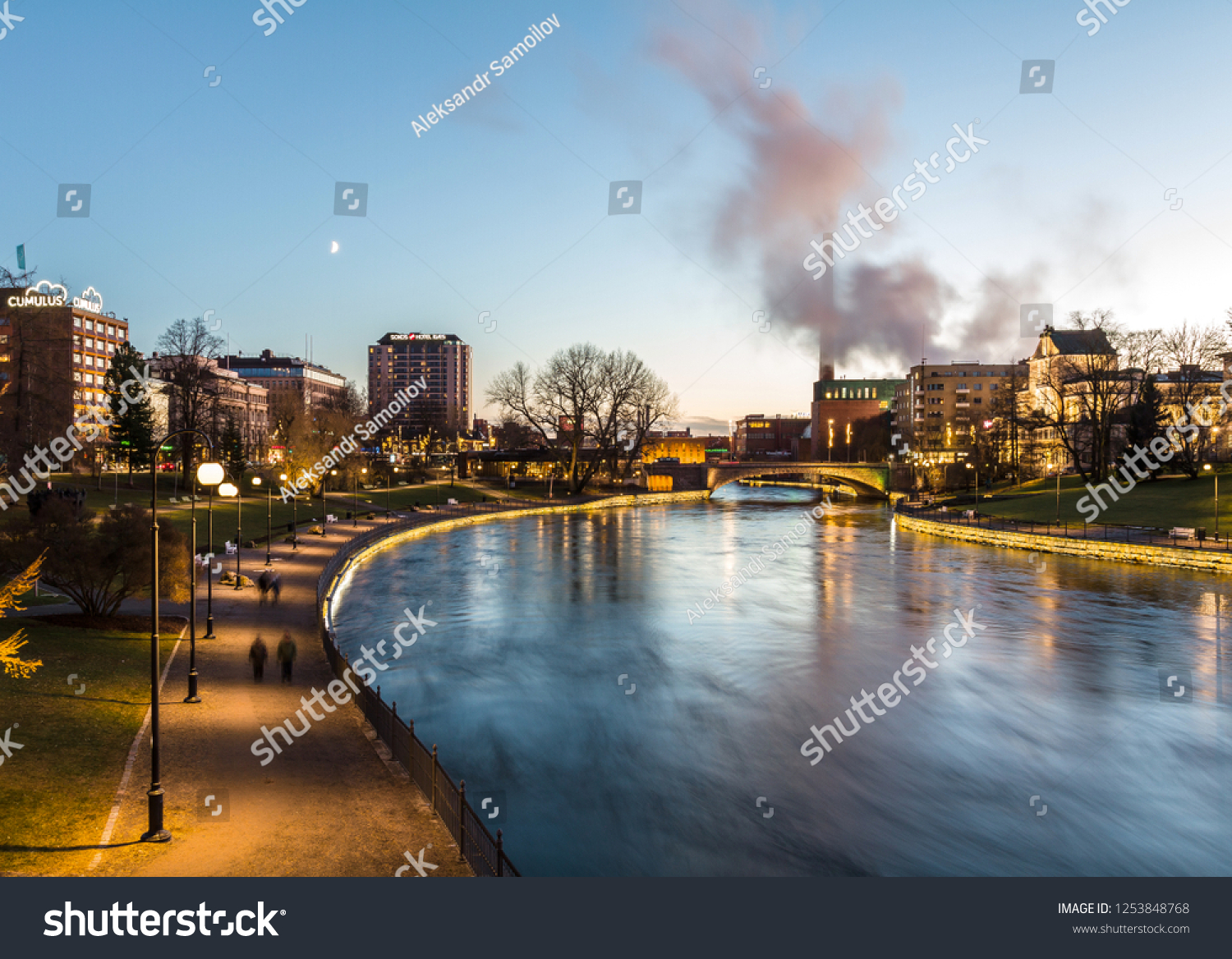 stock-photo-tampere-finland-tammerkoski-
