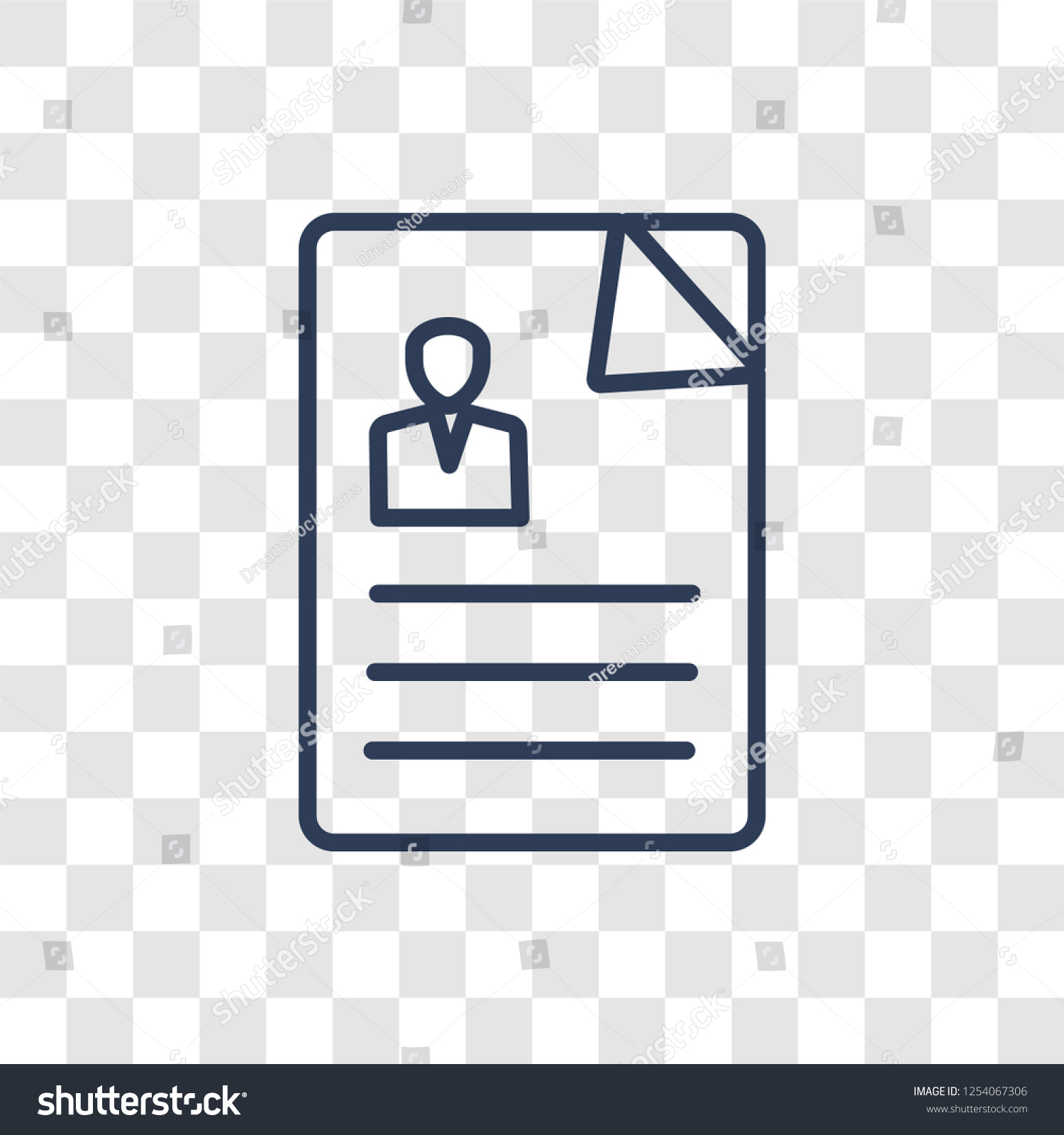 Resume Icon Trendy Linear Resume Logo Stock Vector Royalty Free