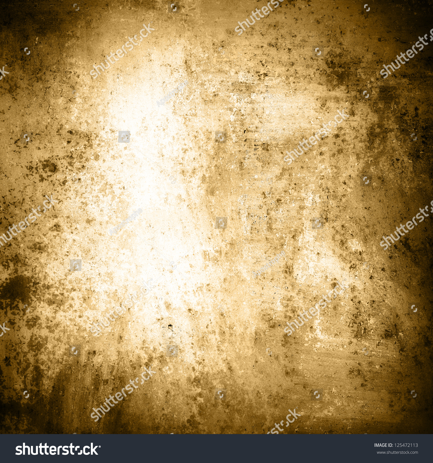 Abstract Brown Background White Center Sepia Stock