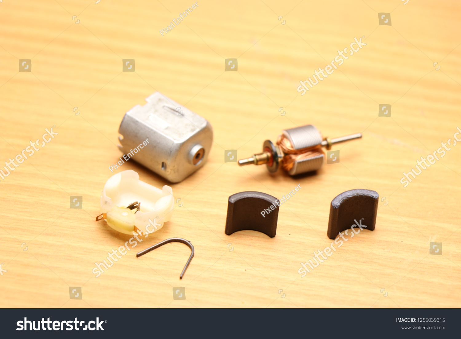Toy Dc Motor Which Disassembled That Stock Photo (Edit Now
