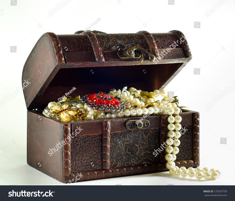 Open Treasure Chest Stock Photo 125507759 Shutterstock