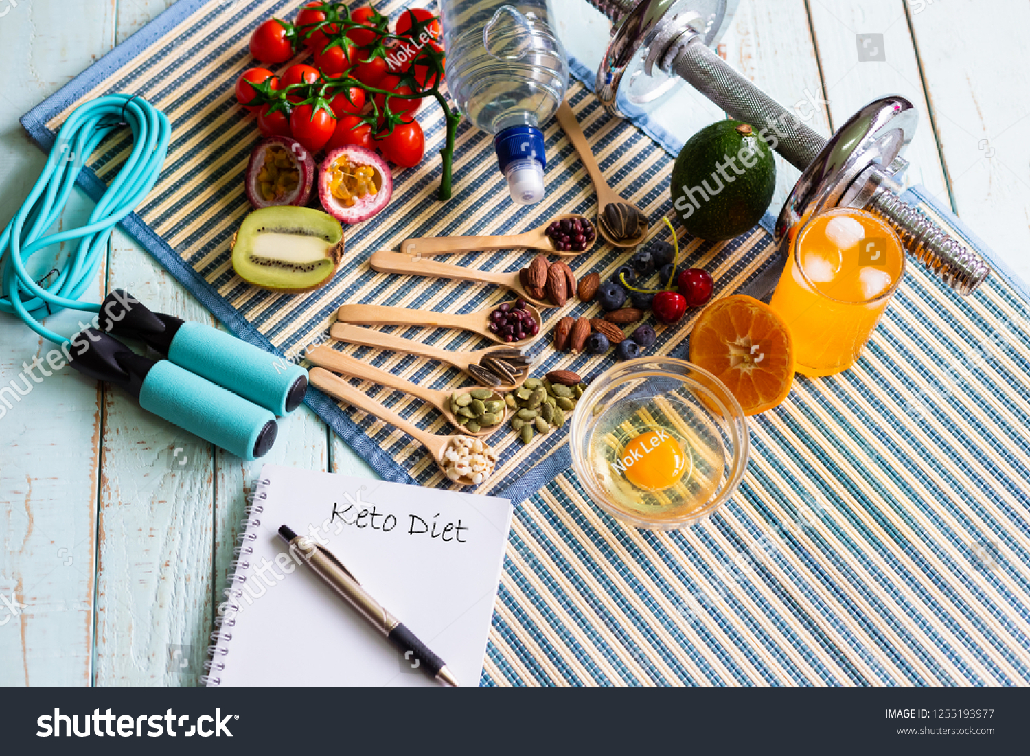 Ketogenic Diet Meal Plan Workout Fitness Food And Drink Stock Image 1255193977