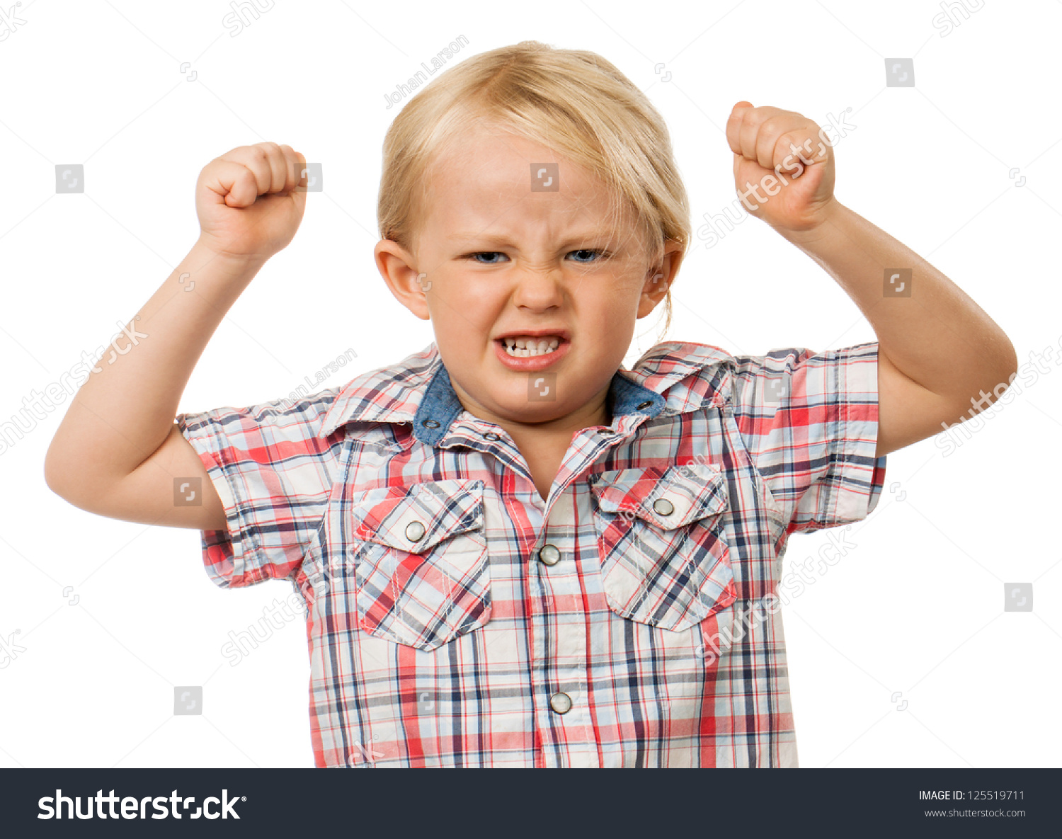 Grimace face clip art stock photo woman pulls a face in upset - A Frustrated And Angry Young Boy With Fists Raised In The Air And Pulling A Face