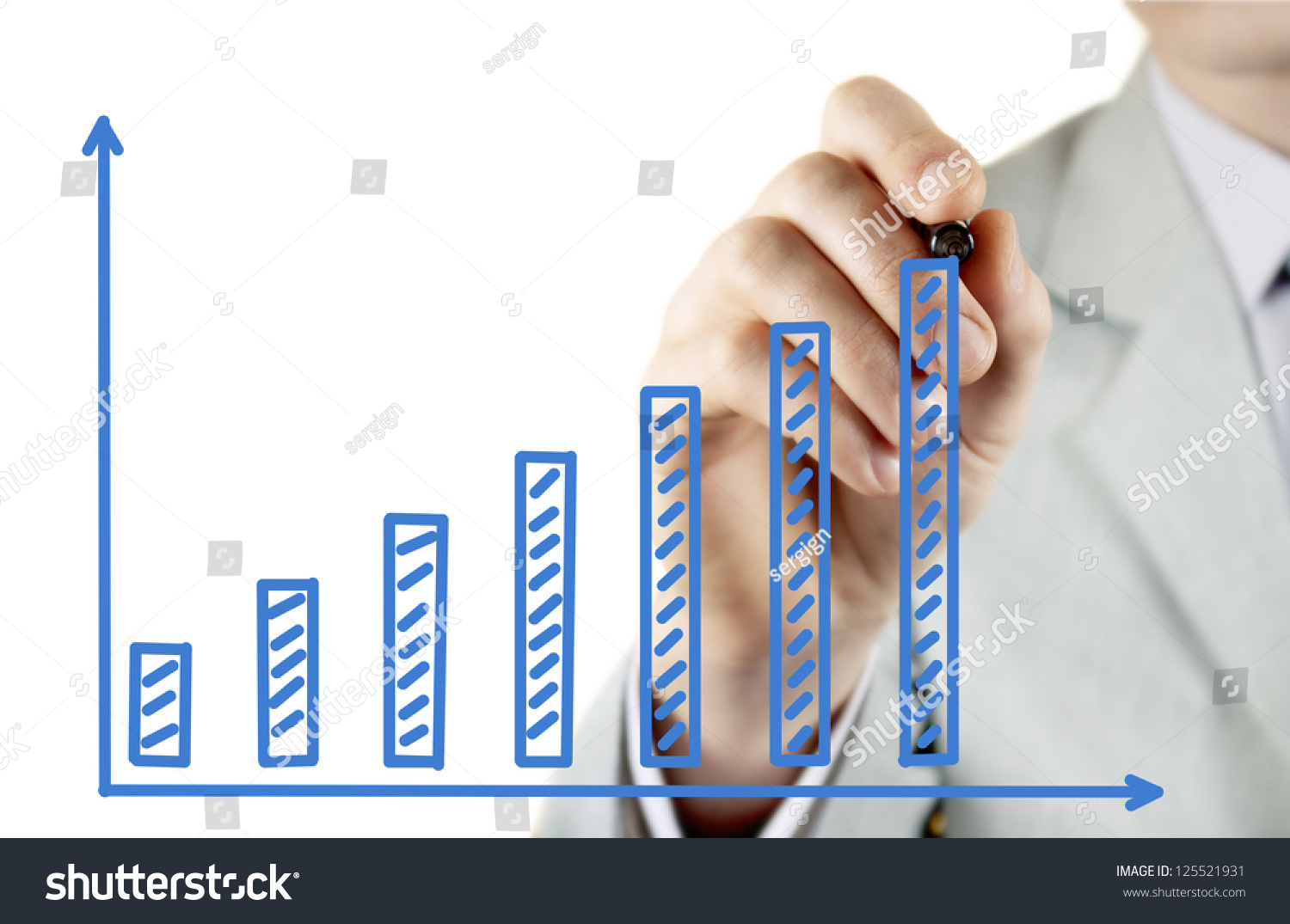 leader draws financial profit growth chart stock. Black Bedroom Furniture Sets. Home Design Ideas
