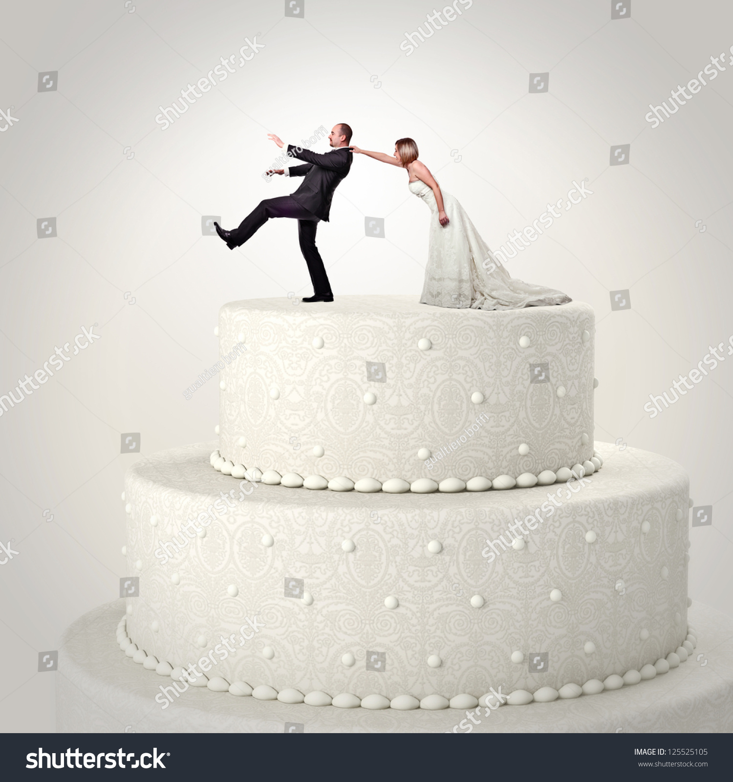 couple wedding cake 3d wedding cake and situation stock photo 13016