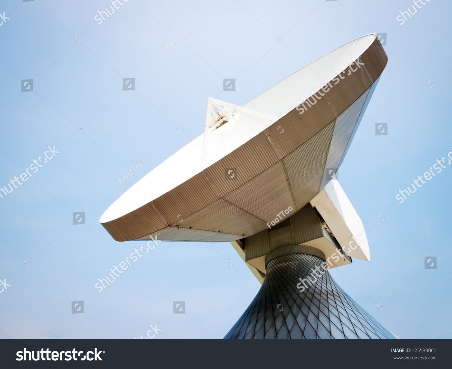 Satellite Dish Meadow Near Munich Germany Stock Photo (Edit