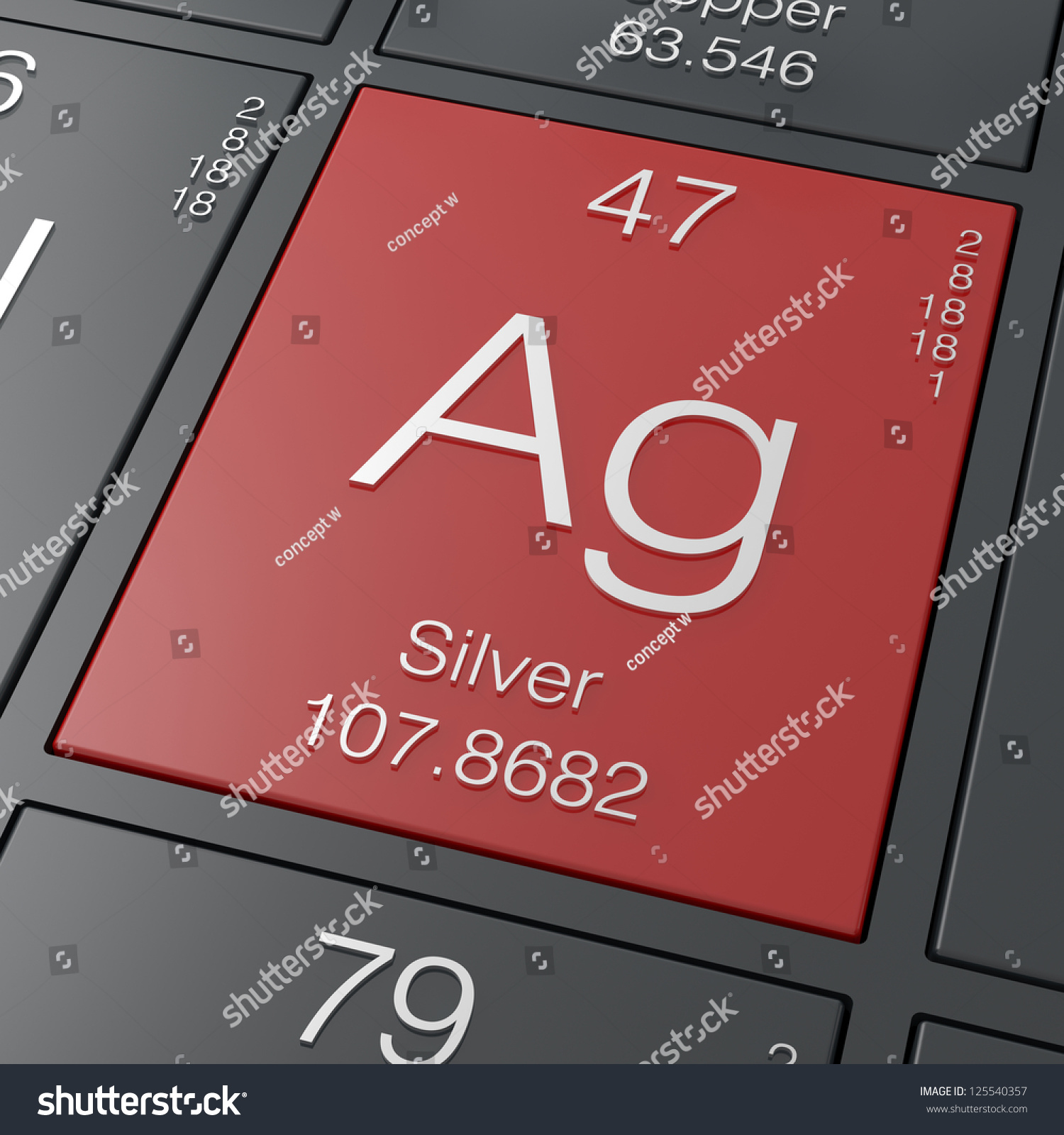 Silver element periodic table stock illustration 125540357 silver element from periodic table gamestrikefo Image collections