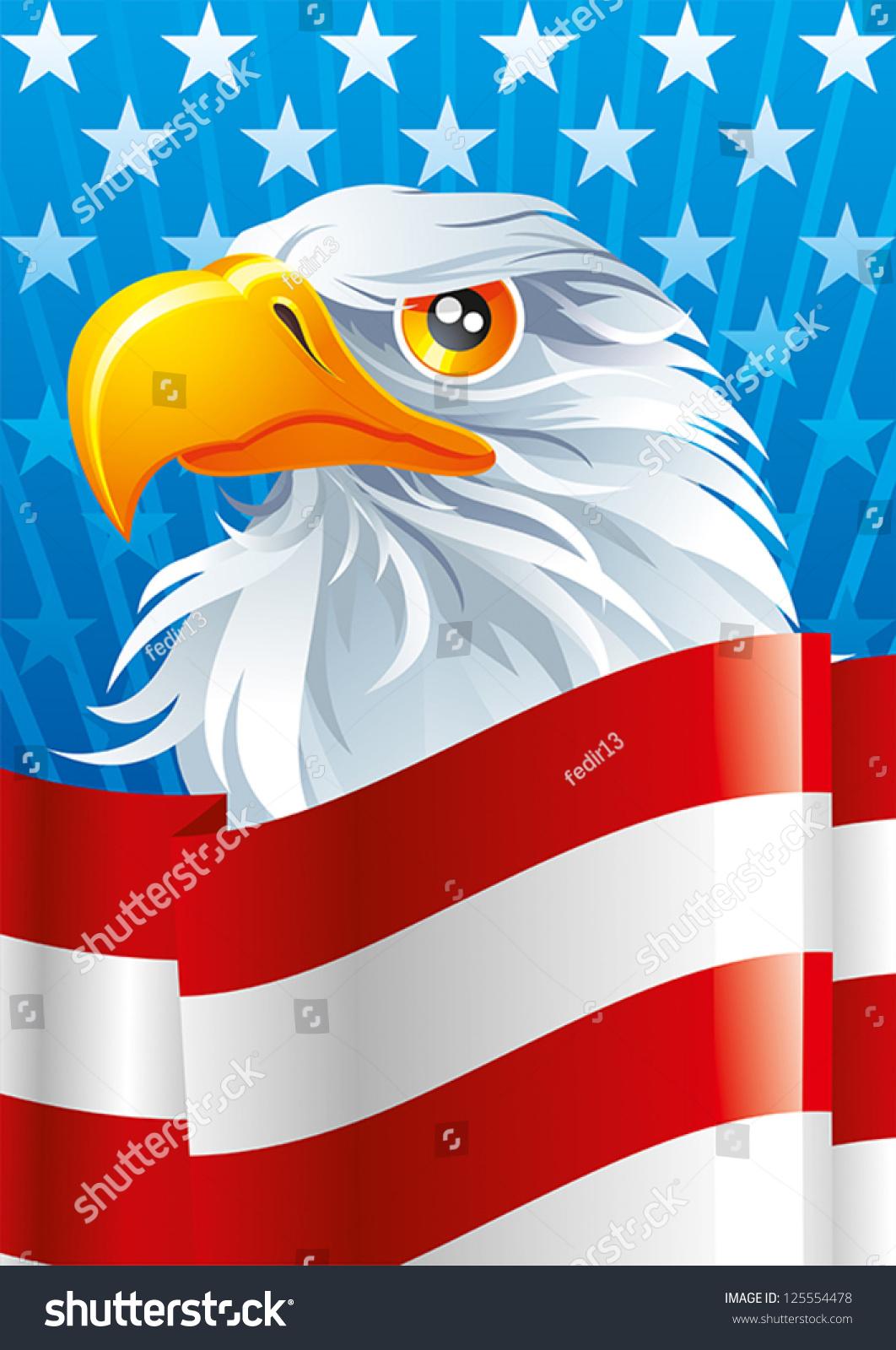 National Symbol Usa Stock Vector Royalty Free 125554478 Shutterstock