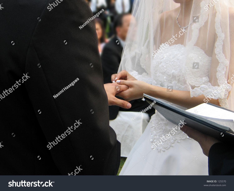 exchanging wedding rings stock photo 125570