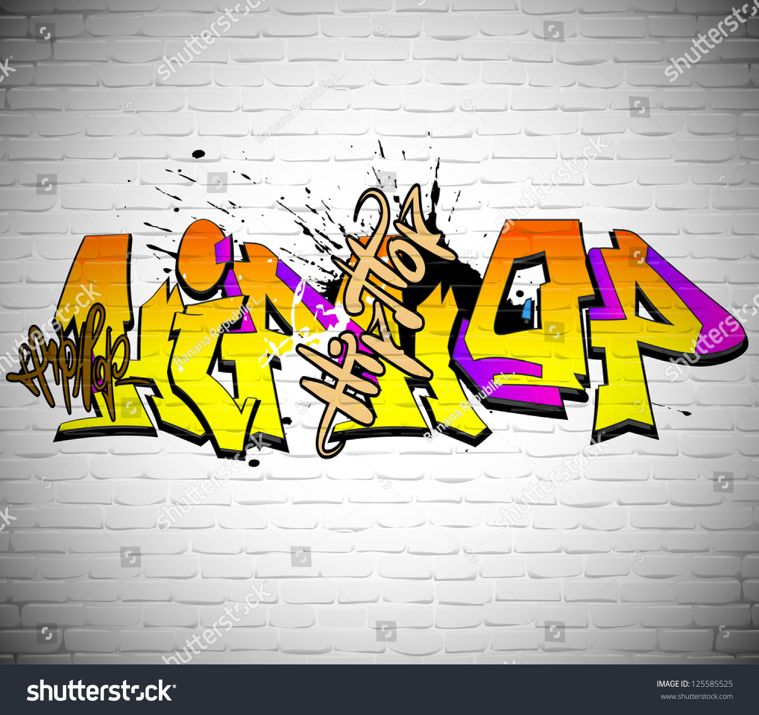 Royalty-free Graffiti wall background, urban art #125585525 Stock ...