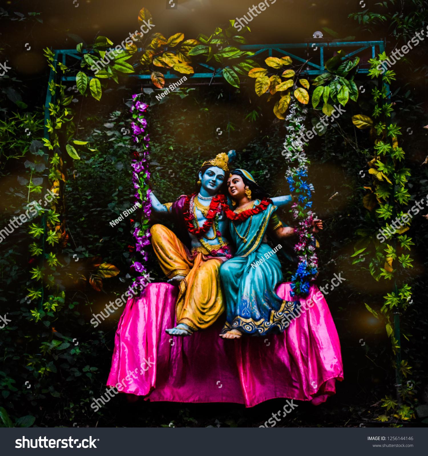 Radha Krishna Love Stock Photo Edit Now 1256144146