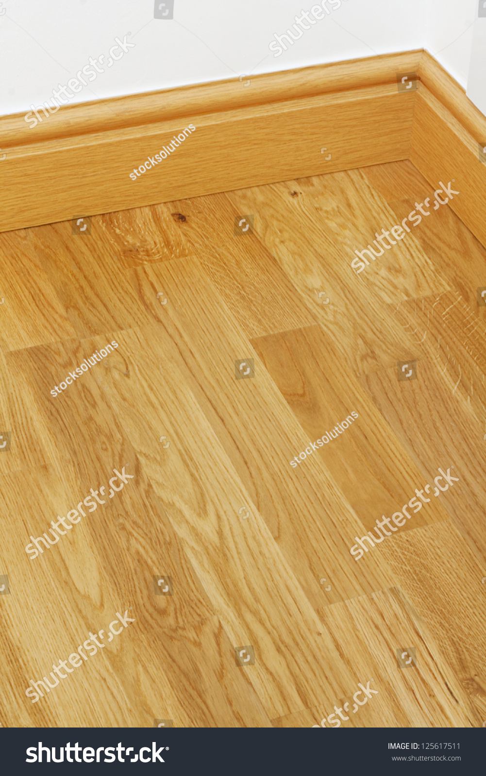 Mdf Wood Flooring : Close up showing some wood effect vinyl flooring and mdf