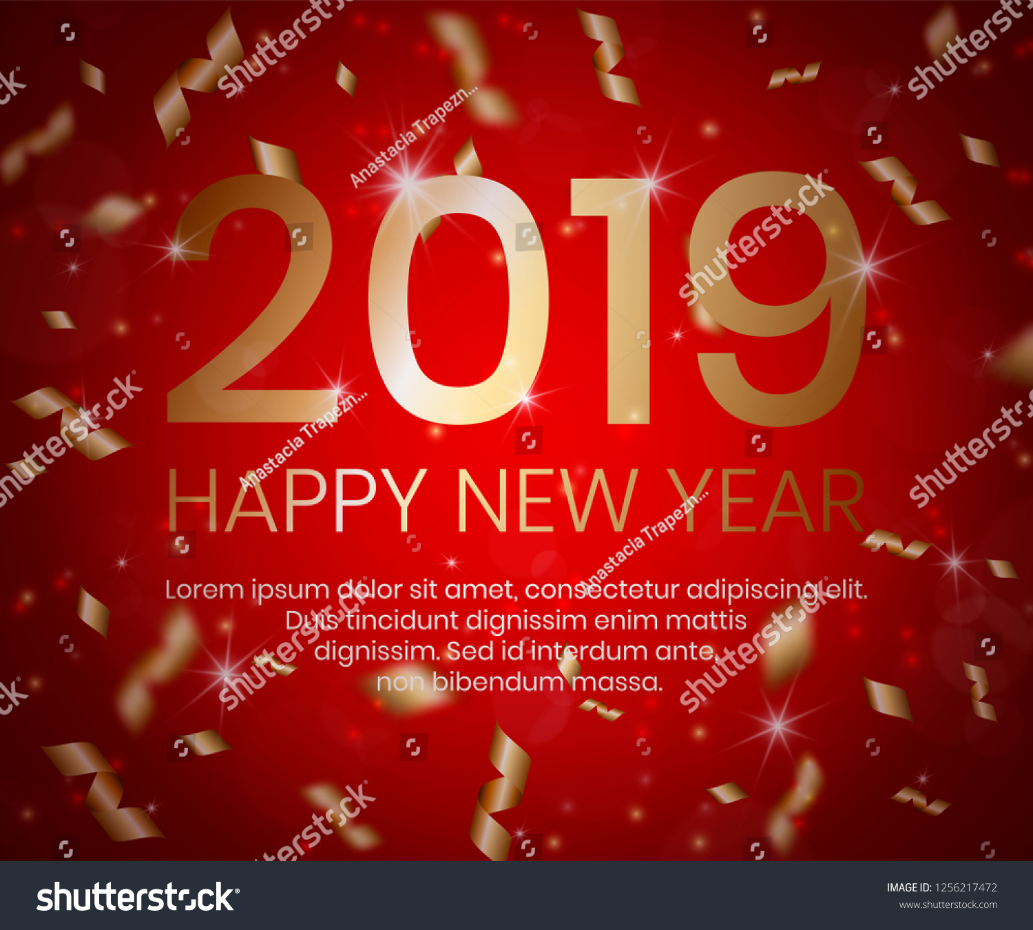 2019 Happy New Year Background 3 D Stock Illustration Royalty Free