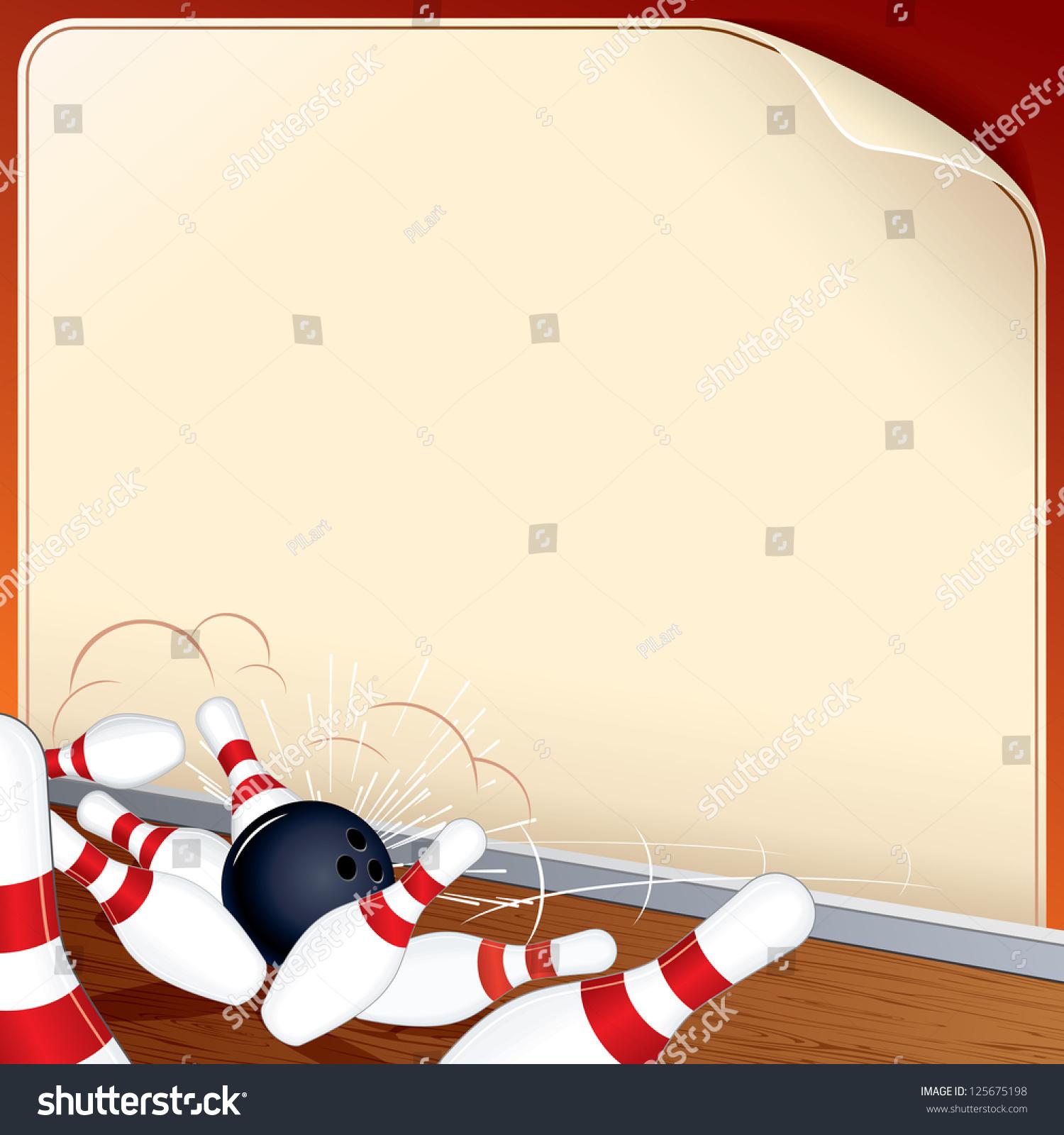 Ten Pin Bowling Background Stock Illustration 125675198