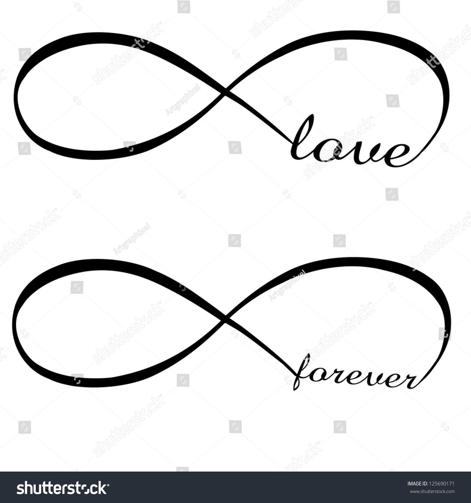 Infinity Love Forever Symbol Stock Vector Royalty Free 125690171