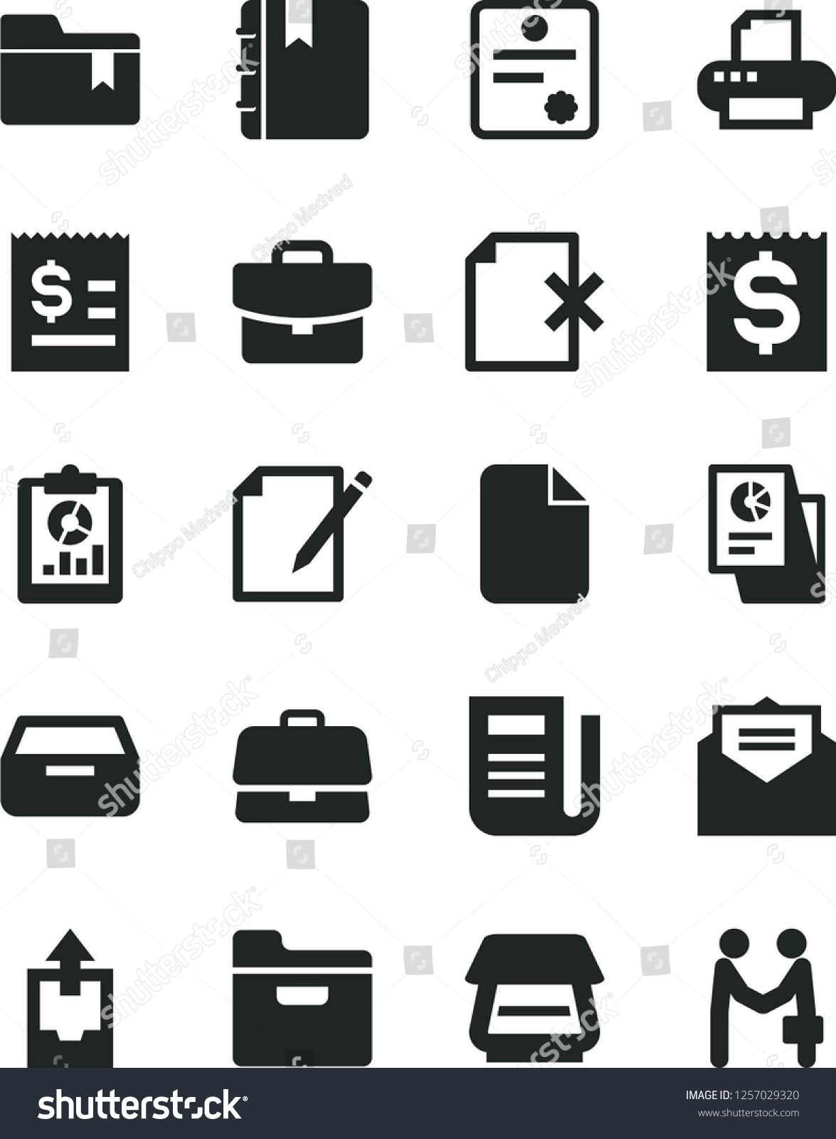 Solid Black Vector Icon Set Upload Stock Vector (Royalty