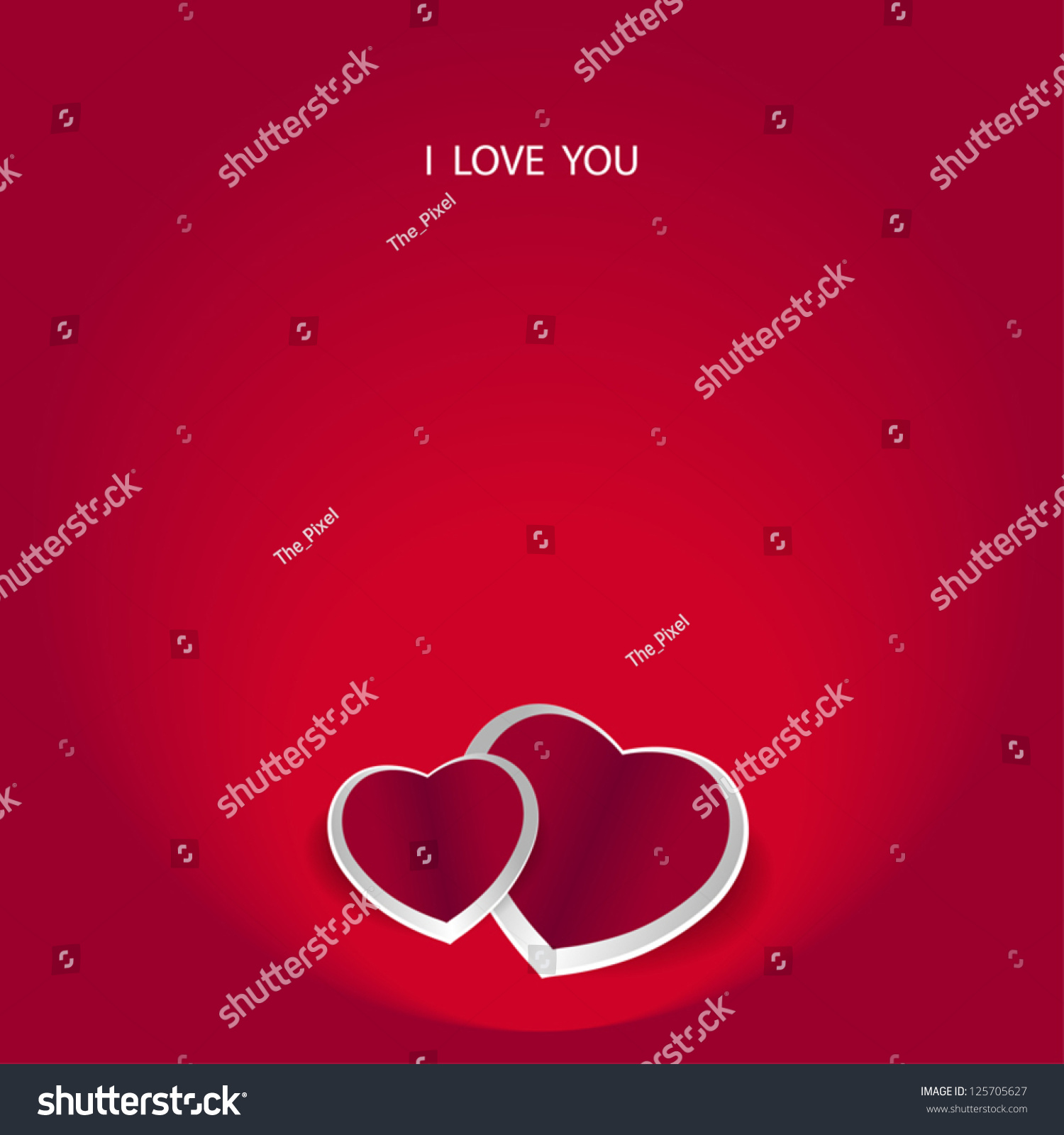 Valentines Card Text I Love You Stock Vector Royalty Free