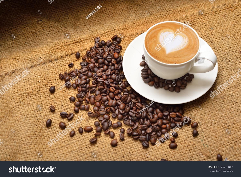 Latte Art Coffee Beans Stock Photo 125710847 - Shutterstock