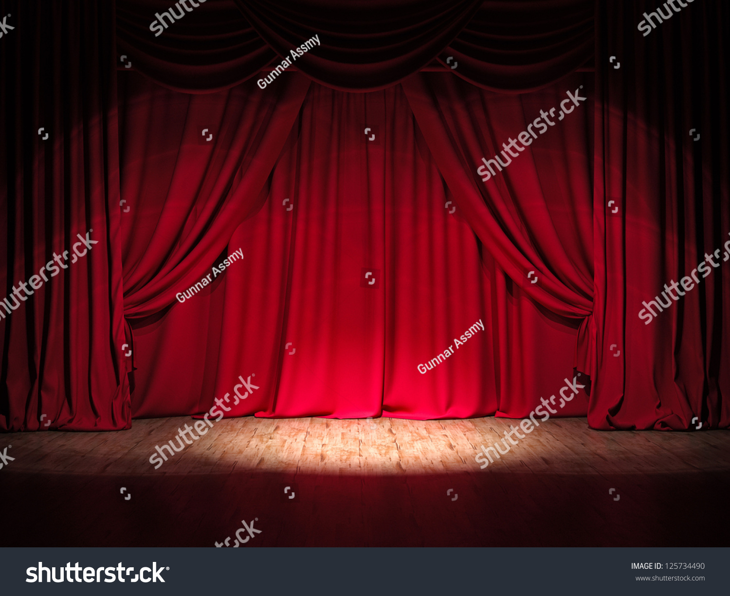 Stage curtains spotlight - Theater Stage Red Curtains Show Spotlight