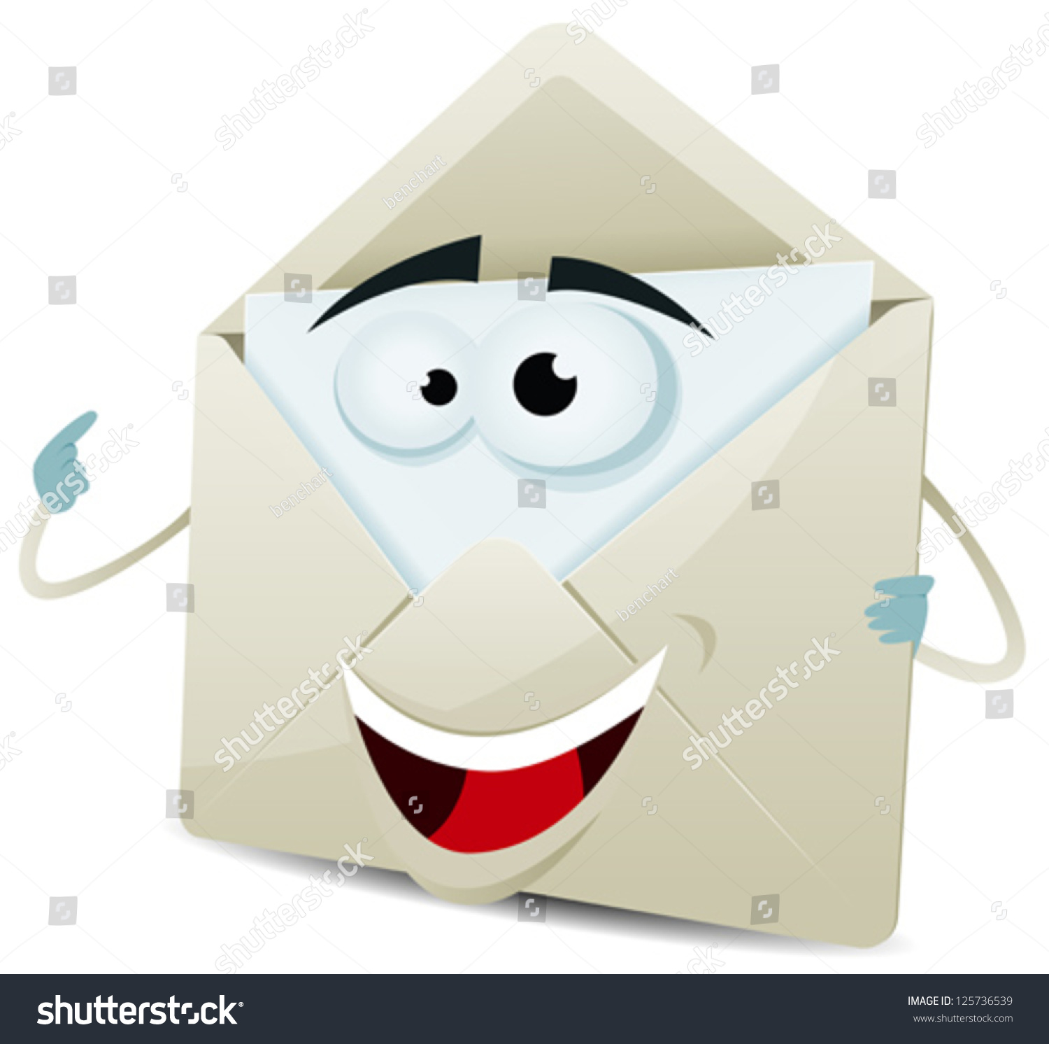 Background image email support - Cartoon Happy Email Character Illustration Of A Funny Cartoon Email Envelope Icon Character Over White