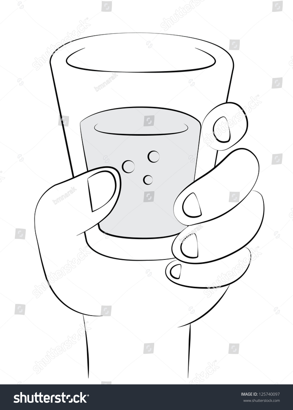 Black Outline Vector Drinking Water On Stock Vector ...