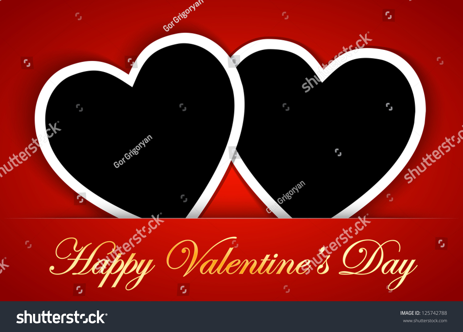 Valentines Card Template Heart Shape Blank Illustration – Valentines Card Template