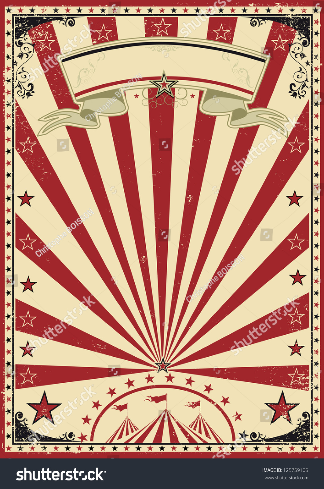 Circus Red Vintage Circus Vintage Poster Stock Vector 125759105 - Shutterstock