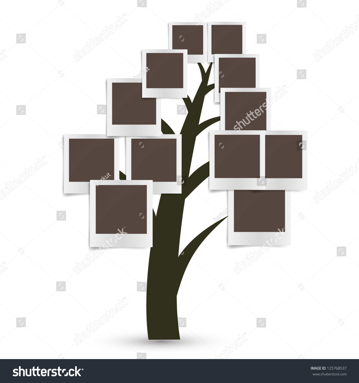 Royalty Free Stock Illustration Of Family Tree Design Insert Your