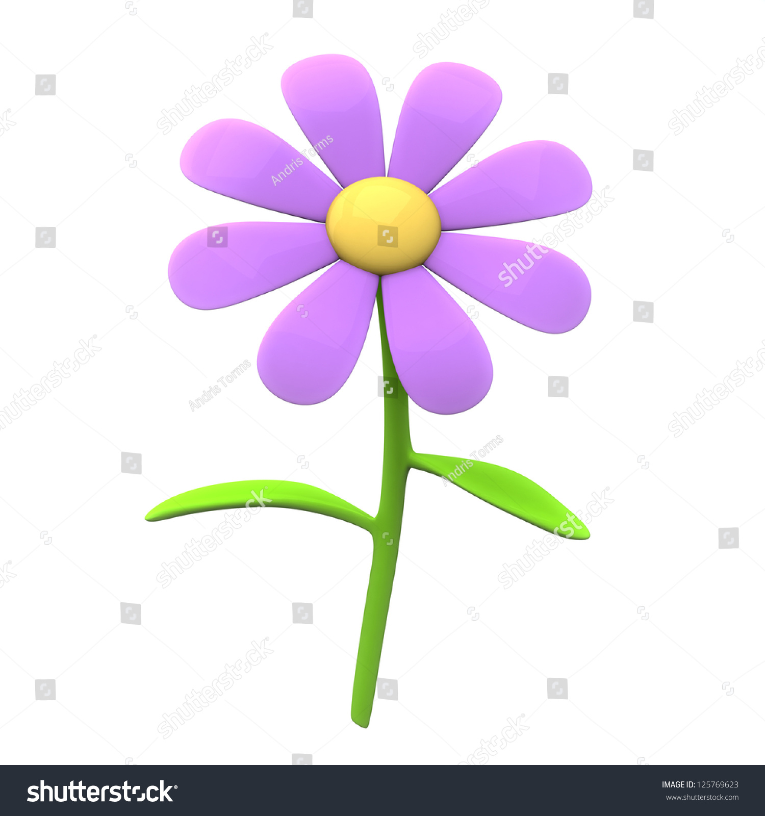 Pink flower icon 3 d image stock illustration 125769623 shutterstock pink flower icon 3d image mightylinksfo