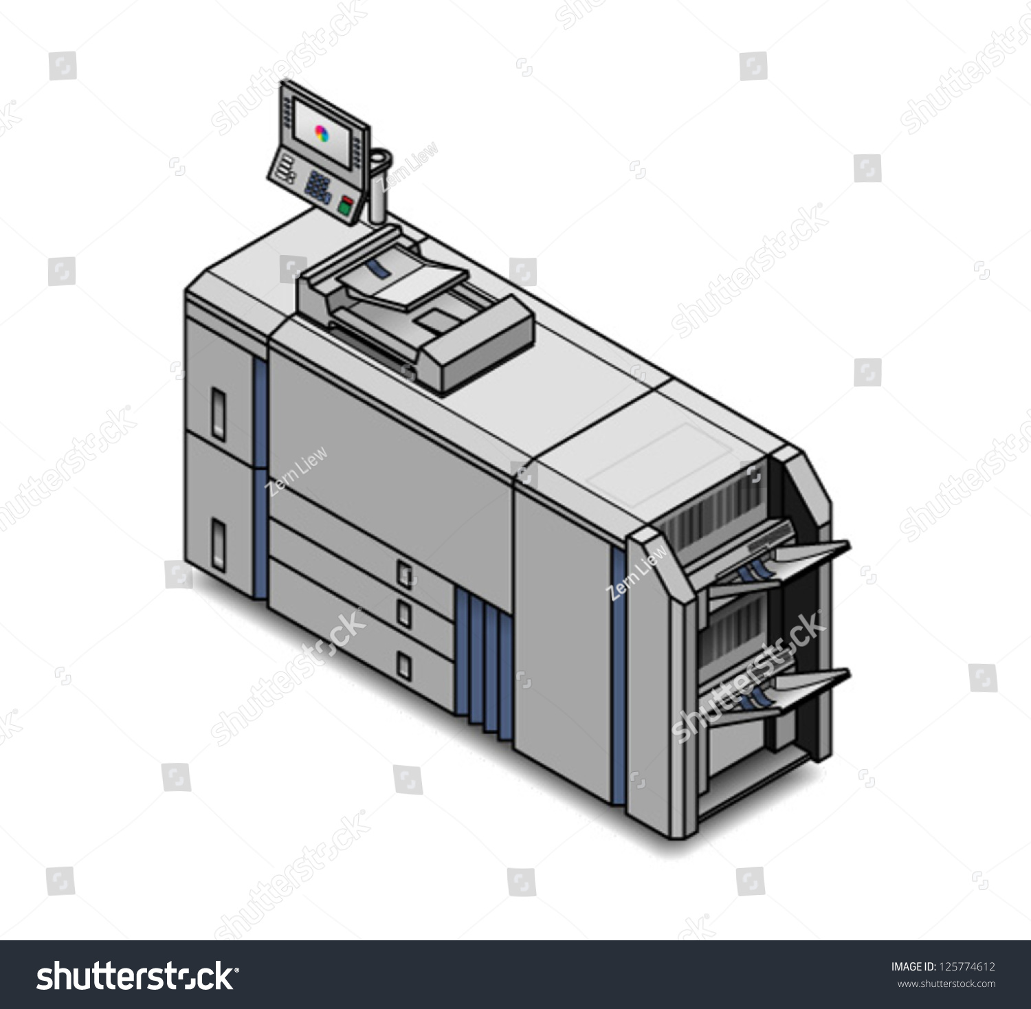 A Small Digital Press Copier Scanner Printer Publisher Ez Canvas Diagram Of Id 125774612