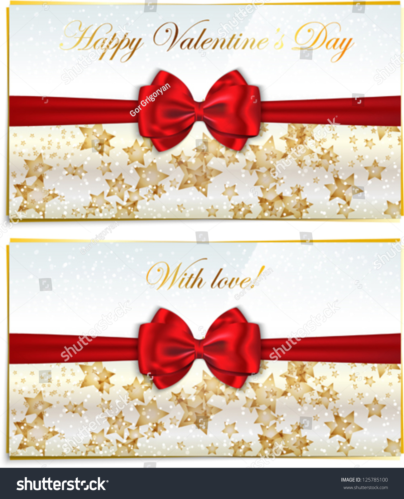 Two luxury greeting cards congratulating valentines stock vector two luxury greeting cards congratulating valentines stock vector 125785100 shutterstock kristyandbryce Images