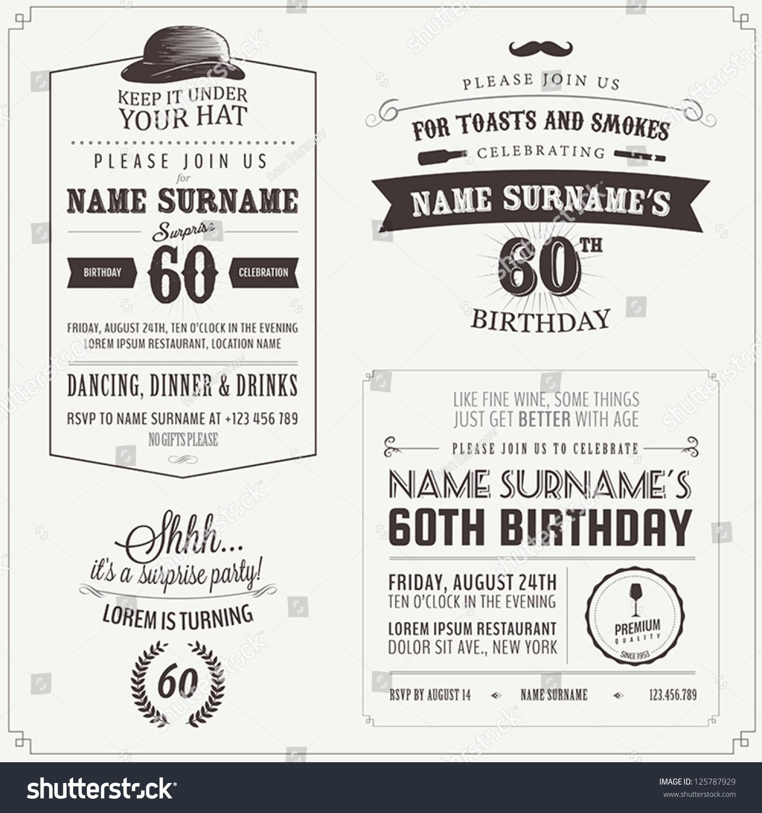 Adult birthday graphic