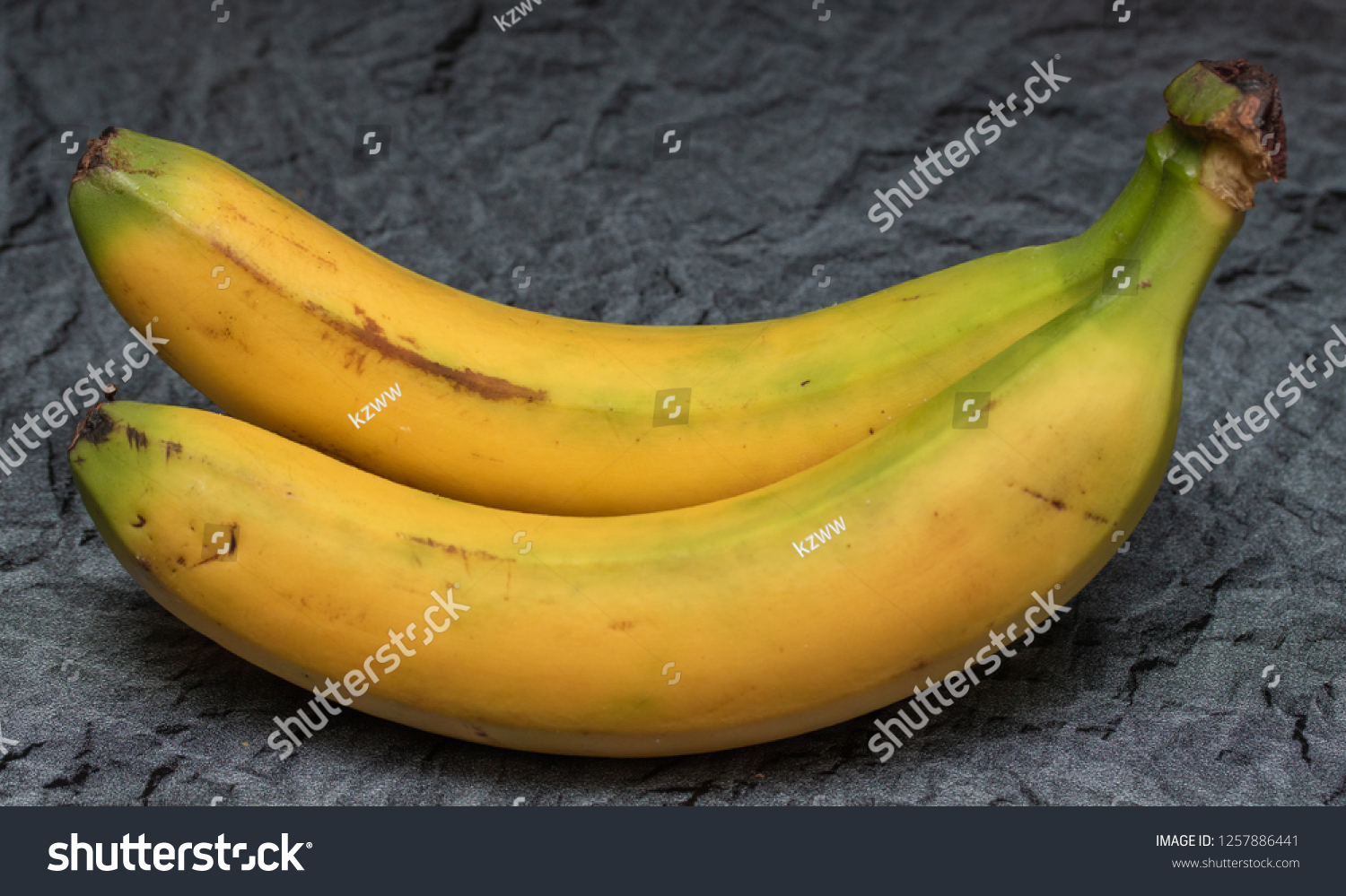 Banana On Table two ripe bananas on the table