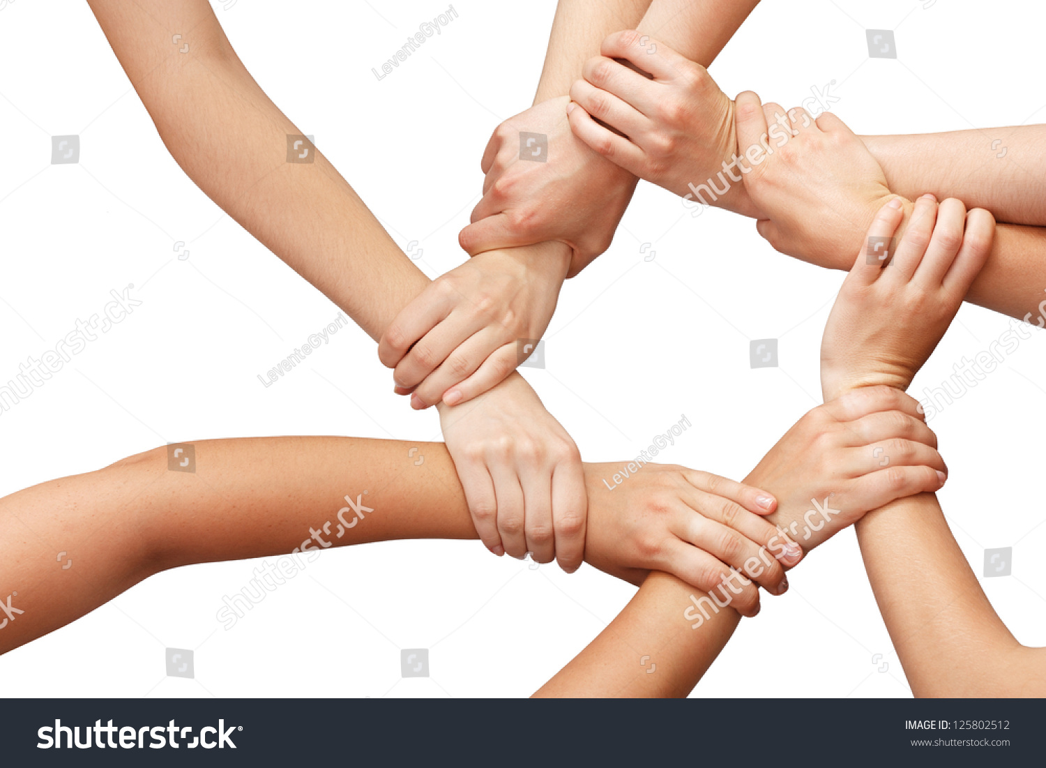 Ring Many Hands Teamwork Stock Photo 125802512 - Shutterstock