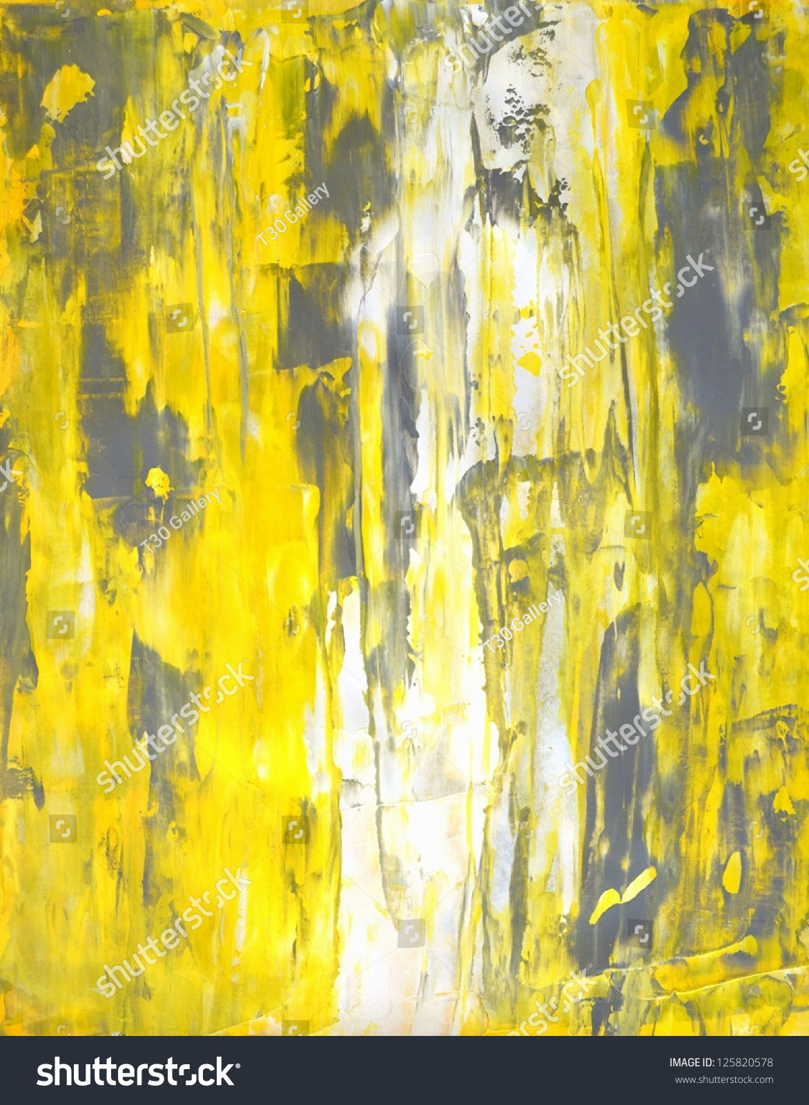 Grey And Yellow Abstract Art Painting Stock Photo ...Yellow Abstract Painting