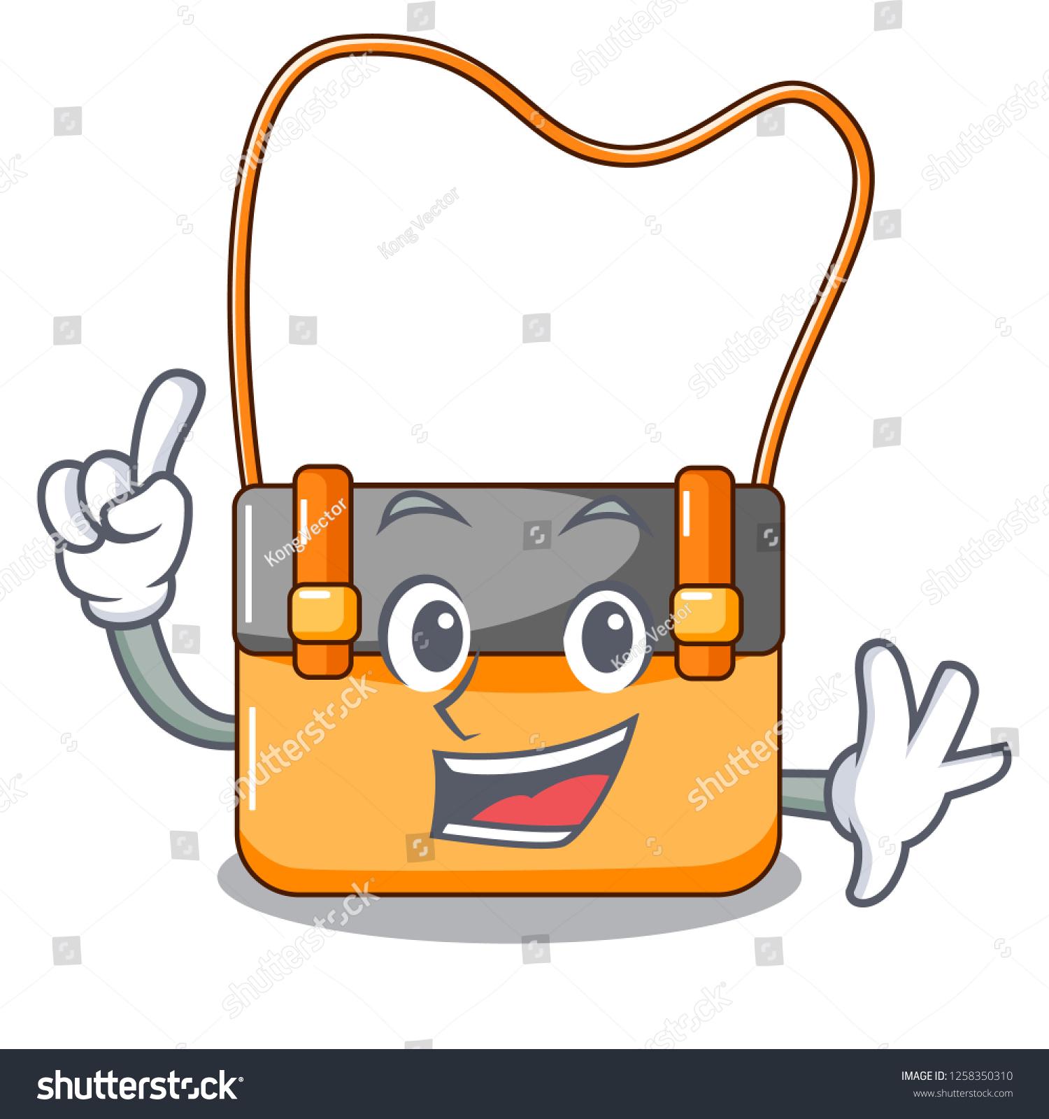 Finger Beautiful Menesengger Bag Fashion Caratoon Stock Vector Royalty Free 1258350310