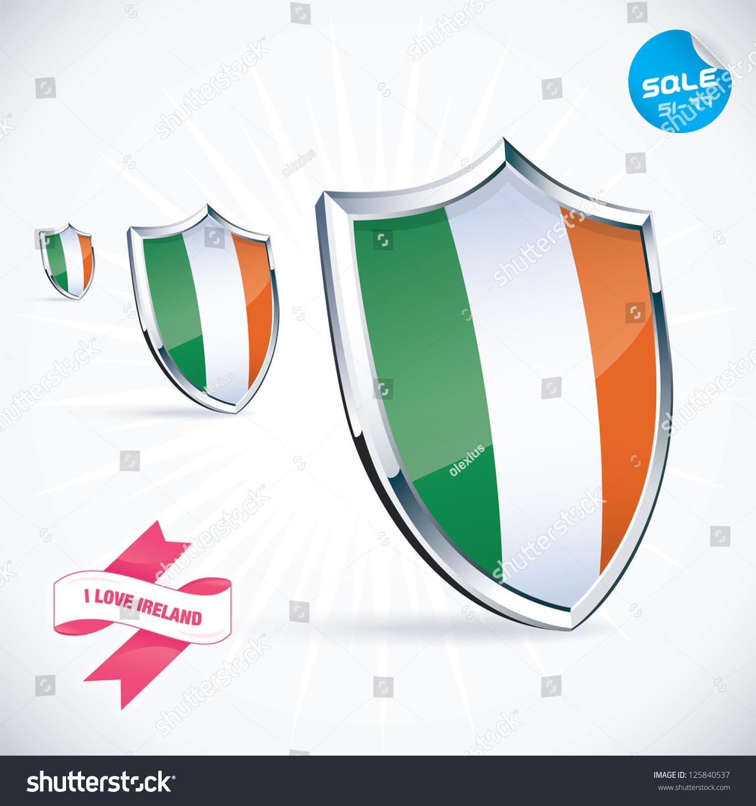 Love ireland flag illustration sign symbol stock vector 125840537 i love ireland flag illustration sign symbol button badge icon biocorpaavc