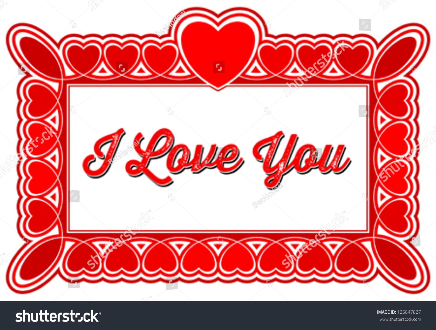 I Love You Greeting Card Frames Stock Vector Royalty Free