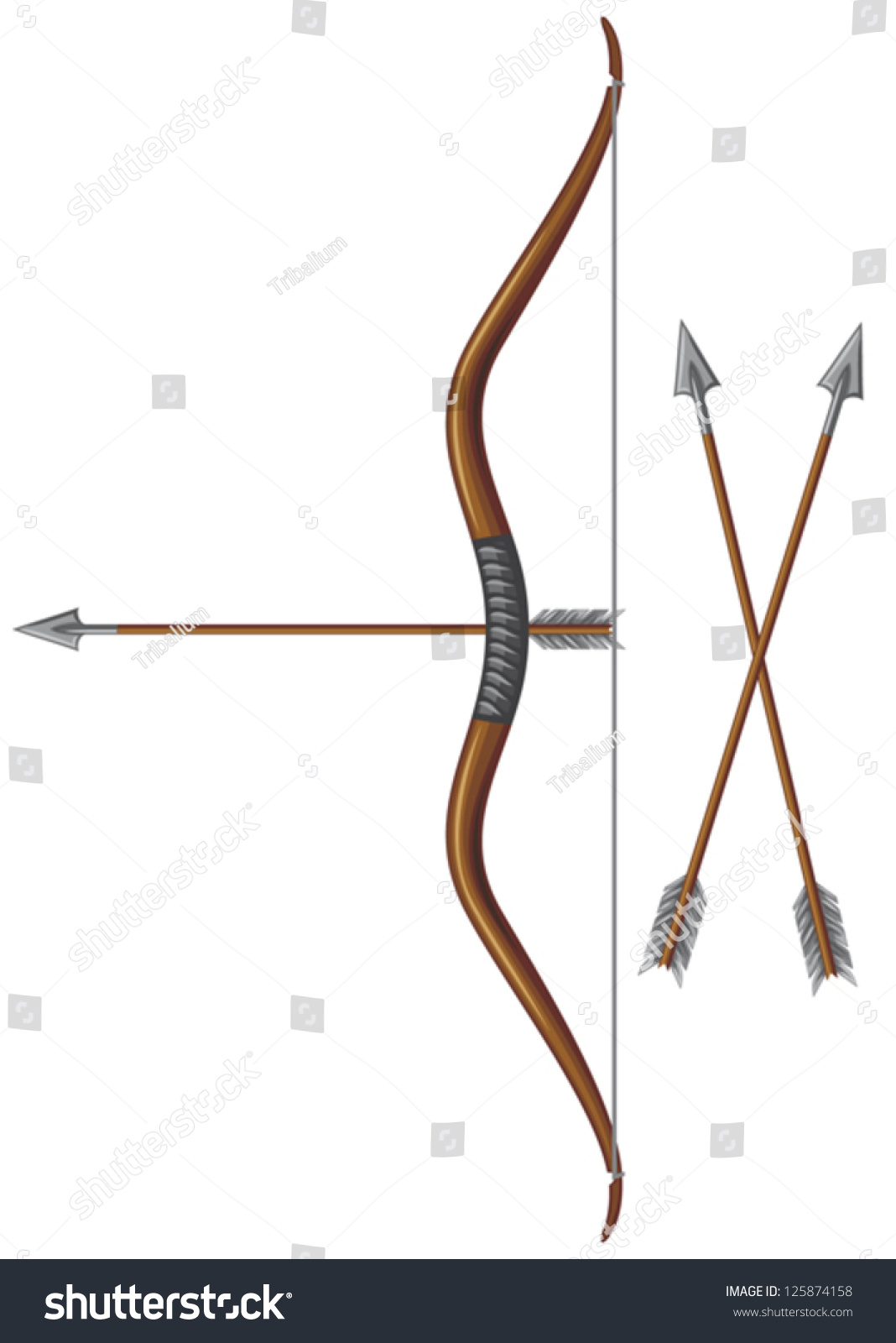 Bow And Arrow Stock Vector Illustration 125874158 ...