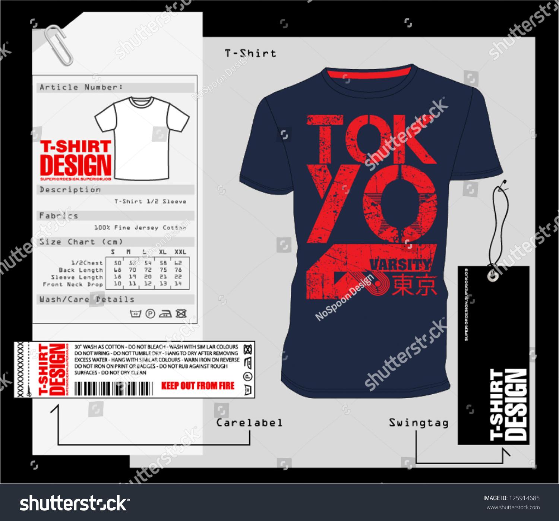 Tshirt design print design stock vector 125914685 for Stock t shirt designs