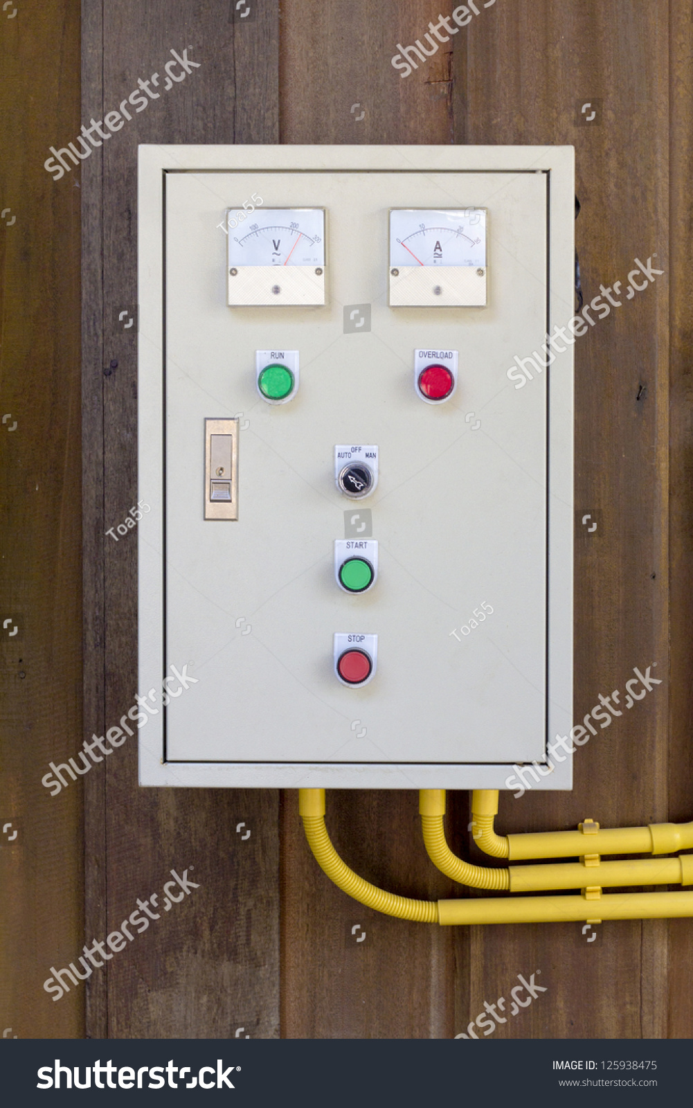 Old Electric Control Box On Wooden Stock Photo (Edit Now) 125938475 ...