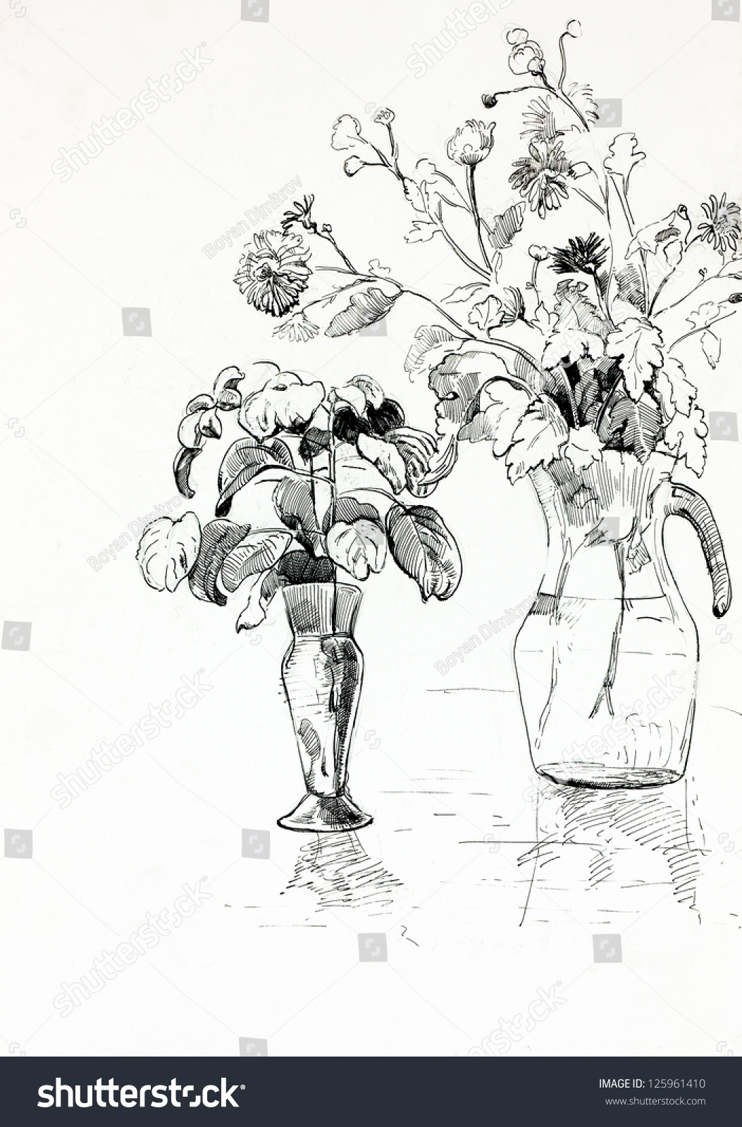 Original pencil drawing charcoal hand drawn stock illustration original pencil or drawing charcoal and hand drawn painting or working sketch of vase or reviewsmspy