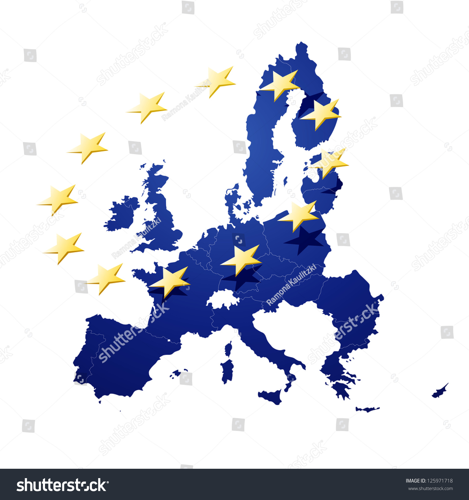 vector illustration of europe - photo #40