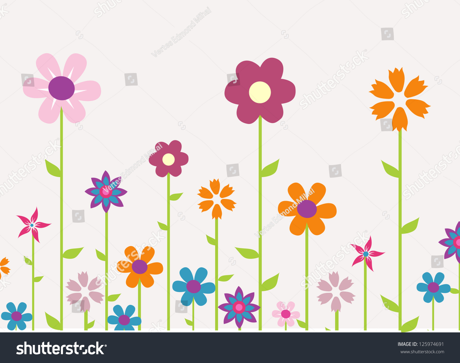 Vector Floral Background Ez Canvas