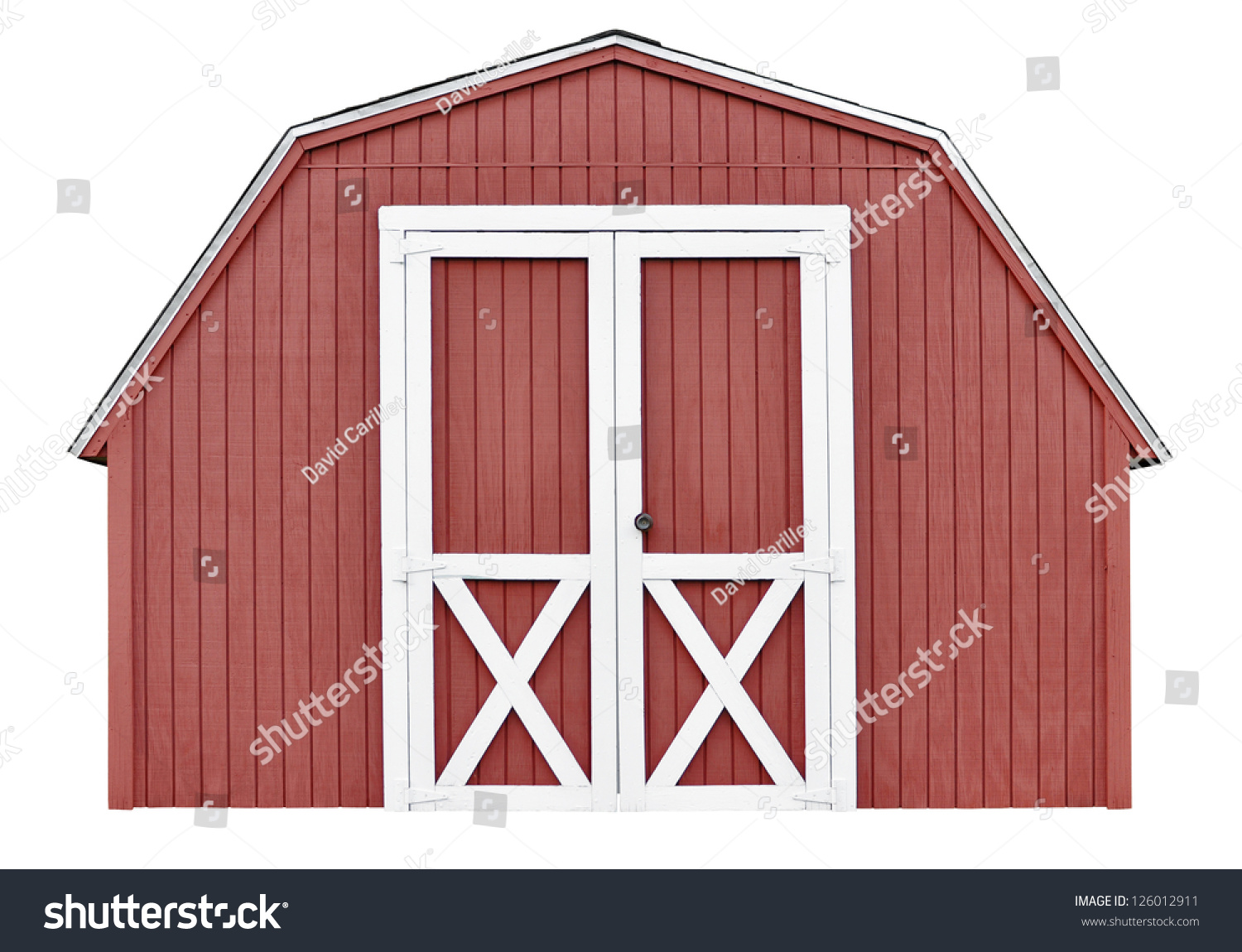 barn style utility tool shed garden stock photo 126012911 barn style utility tool shed for garden and farm equipment isolated on white background